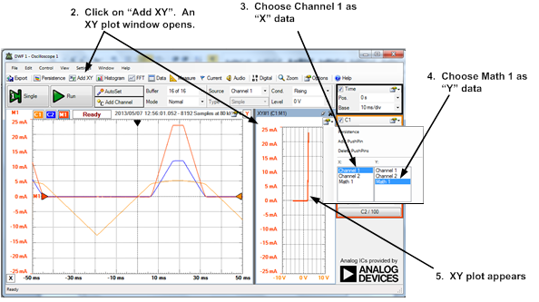 Oscilloscope Y Axis : Learn digilentinc xy plots