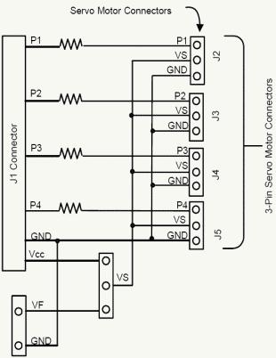 rc servo motor wiring