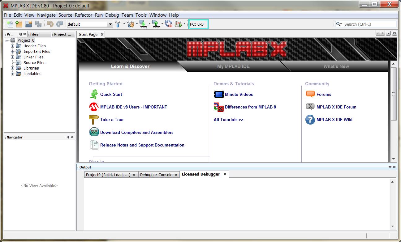 Learndigilentinc Project 0 Mplab X Integrated Development Microchip C Compiler Software Digilentinc Environment