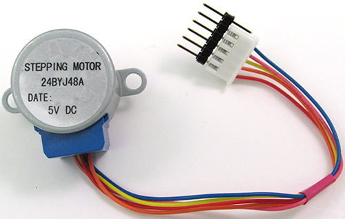A typical stepper motor